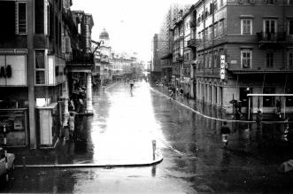 Korzo nakon kiše, iz vremena dok još nije bilo popločano...
