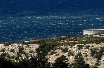 Udari bure snimljeni s Praputnjaka (foto: Pero Lovrović)